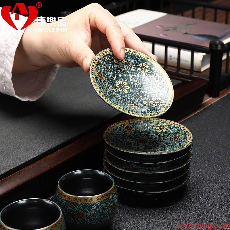 Recreational product ceramic cup mat kunfu tea saucer insulation pad tea tray mat cup holder group tea tea accessories