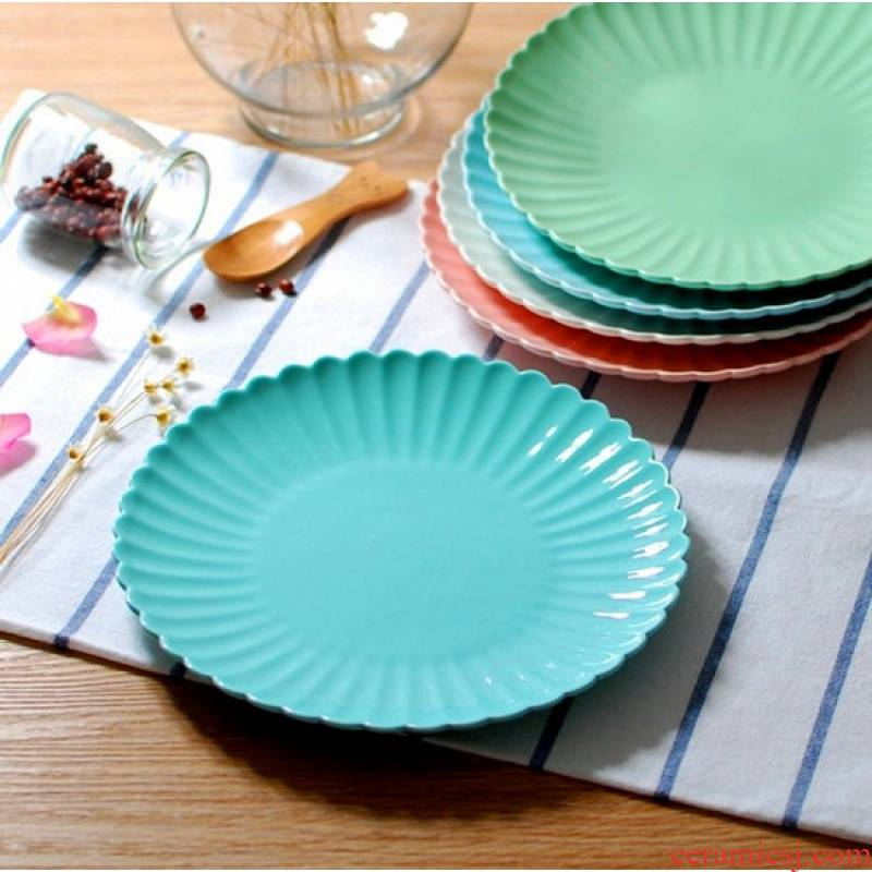 "Jingdezhen ceramic plates sweetheart cake fruit steak plate element 8 ""boreal Europe style is the snack plate"