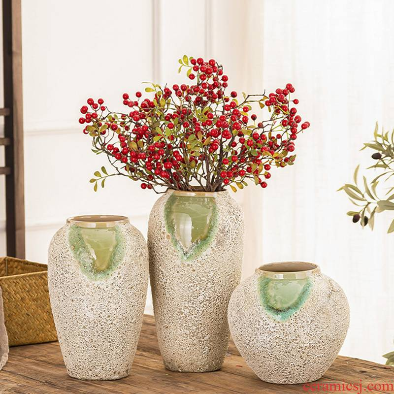 American country retro thick fleshy flower other ceramic pottery gop running the floret bottle arranging flowers sitting room place flowerpot