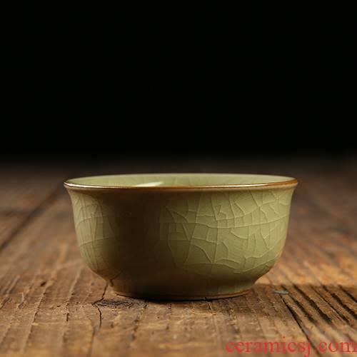QY new specials celadon sample tea cup ceramic poly real JingDi up kung fu tea set small master cup tea cup