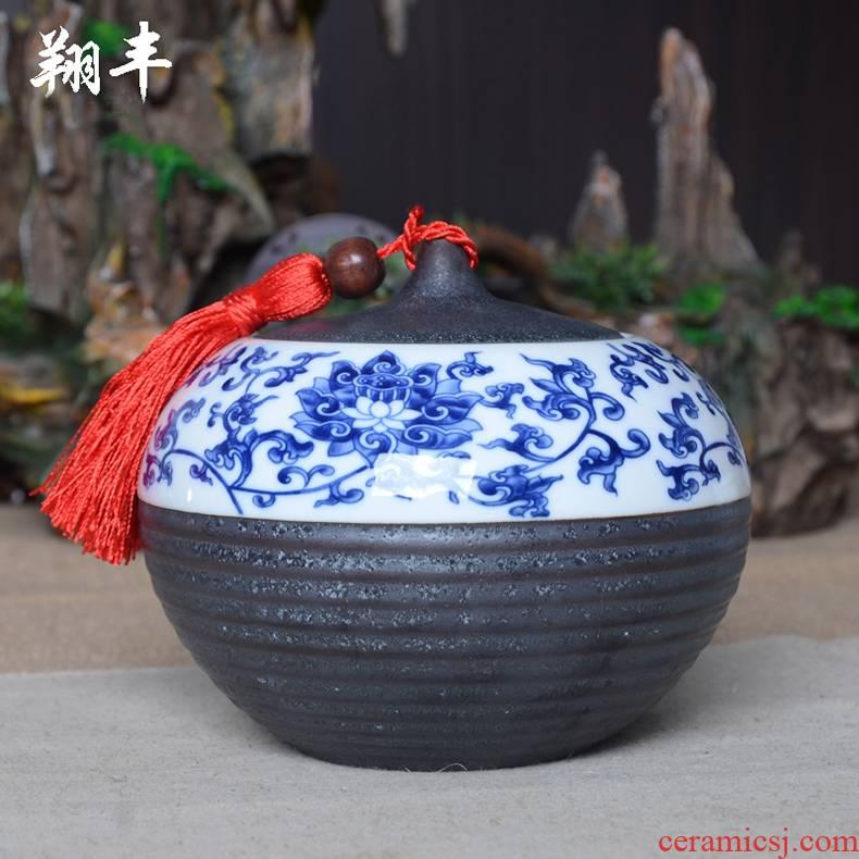 Large shadow enjoy tea bucket of pu - erh tea box seal your up caddy fixings ceramic XF