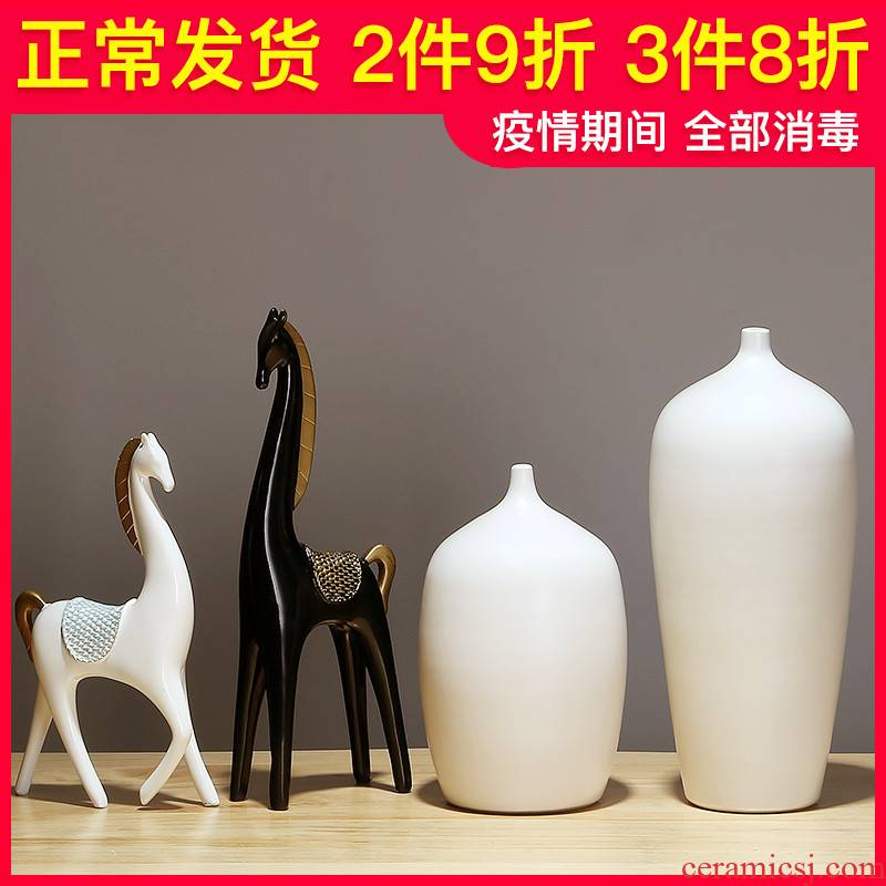 New Chinese style ceramic vase furnishing articles table of I sitting room porch dried flower arranging flowers jingdezhen household adornment furnishing articles