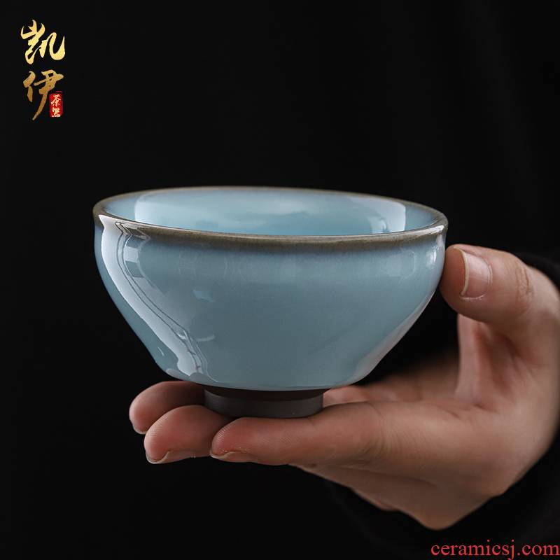 Patrick ho chi - ping master hand your up for a disk can raise zen cup your porcelain single glass ceramic individual sample tea cup bowl