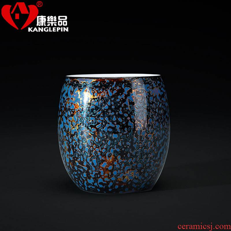 Recreational product lacquer wind white porcelain tea set Chinese palace kung fu ceramic cups single CPU master cup sample tea cup Chinese lacquer