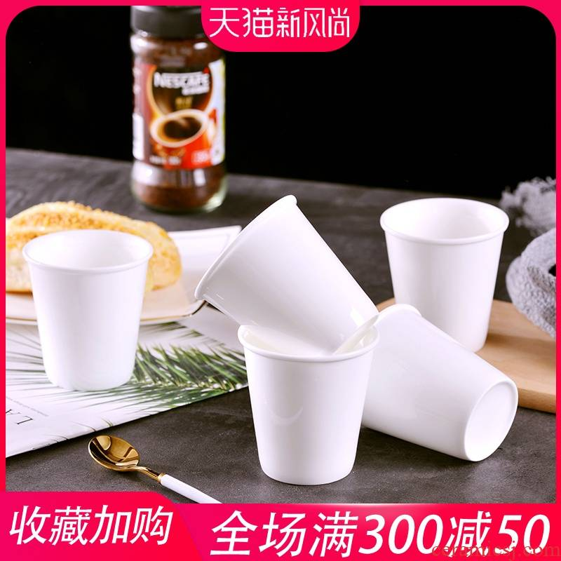 Creative jingdezhen ceramic cups contracted ultimately responds a cup of ipads porcelain cup of milk coffee cup household pure white glass