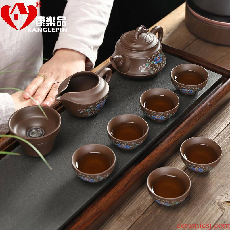 Recreational product of a complete set of yixing it steak small sets of kung fu tea set home office cup tea accessories