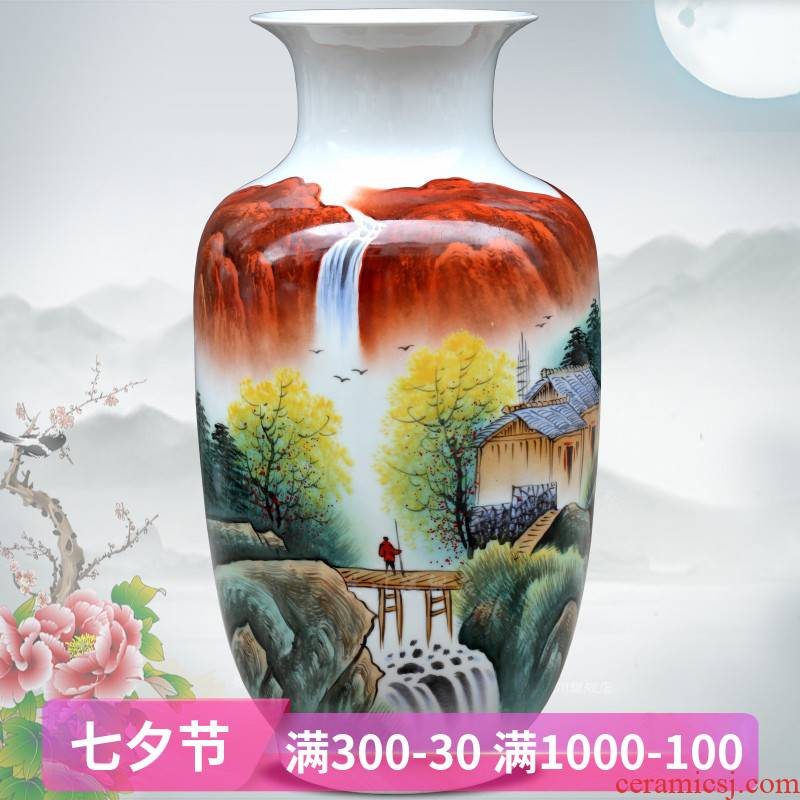 Jingdezhen ceramic hand - made pastel escape figure in the dried flower vase mesa study office furnishing articles sitting room