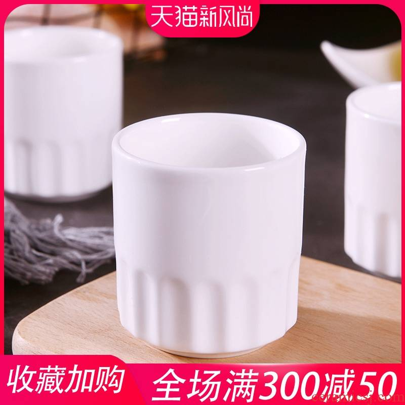 Household pure white ipads China cup ultimately responds cup hotel hotel jingdezhen ceramic glass creative contracted tea cups