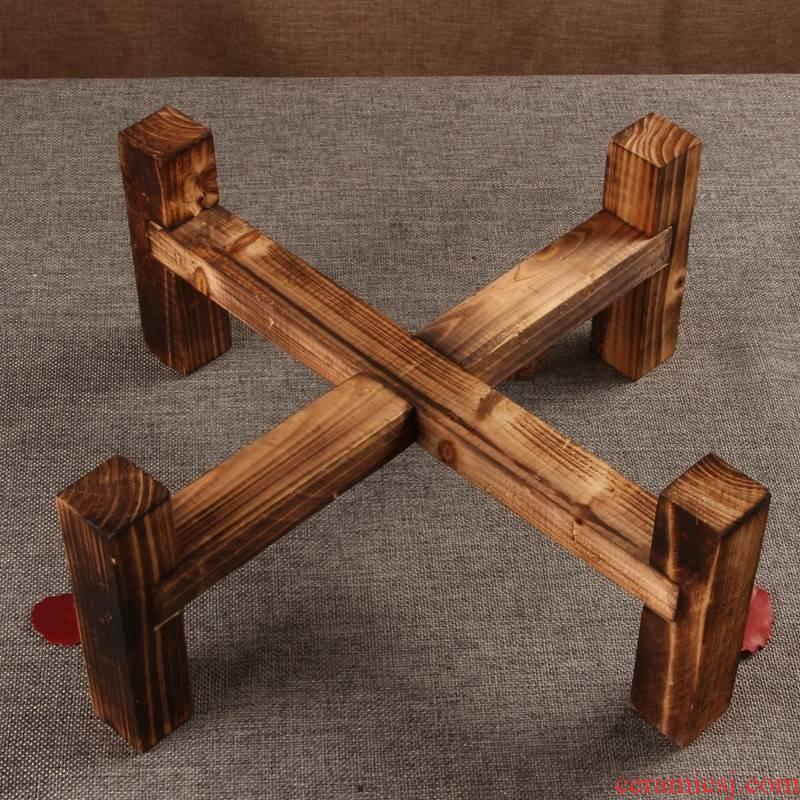 The new wooden POTS brace tea urn feet wooden tank, household wood base