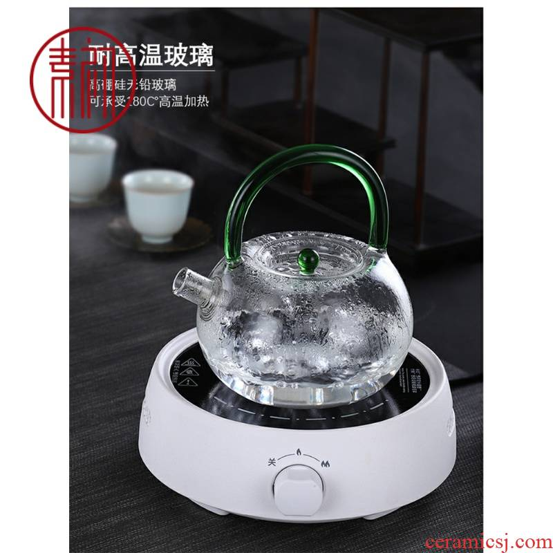 Japanese the teapot kettle boil tea glass, the electric TaoLu black fruit tea flower pot set transparent the teapot