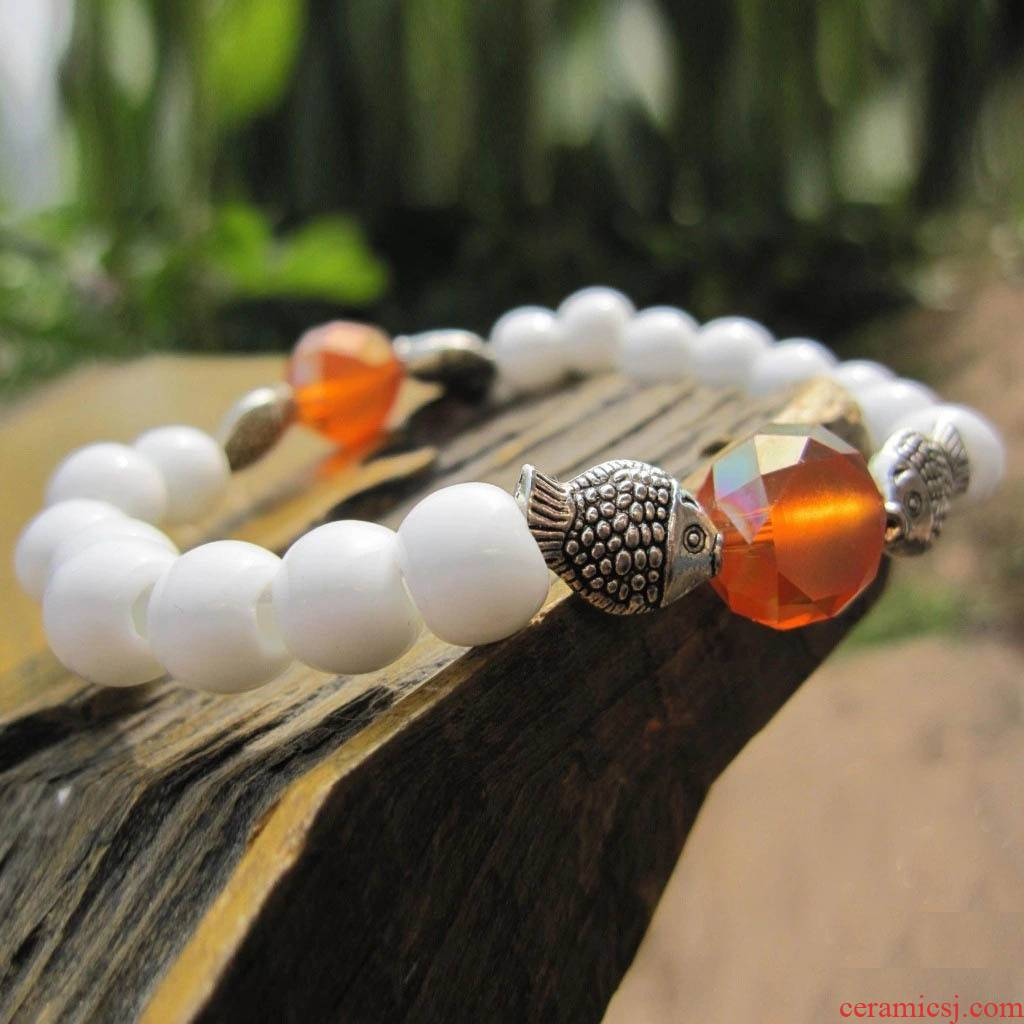 Lovely MiaoYin collocation crystal fish play bead bracelet ceramic bracelet