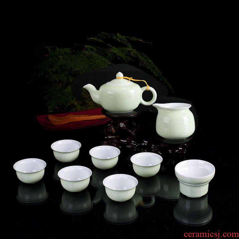 Tea set jingdezhen kung fu Tea set ceramic six people contracted teapot small cups