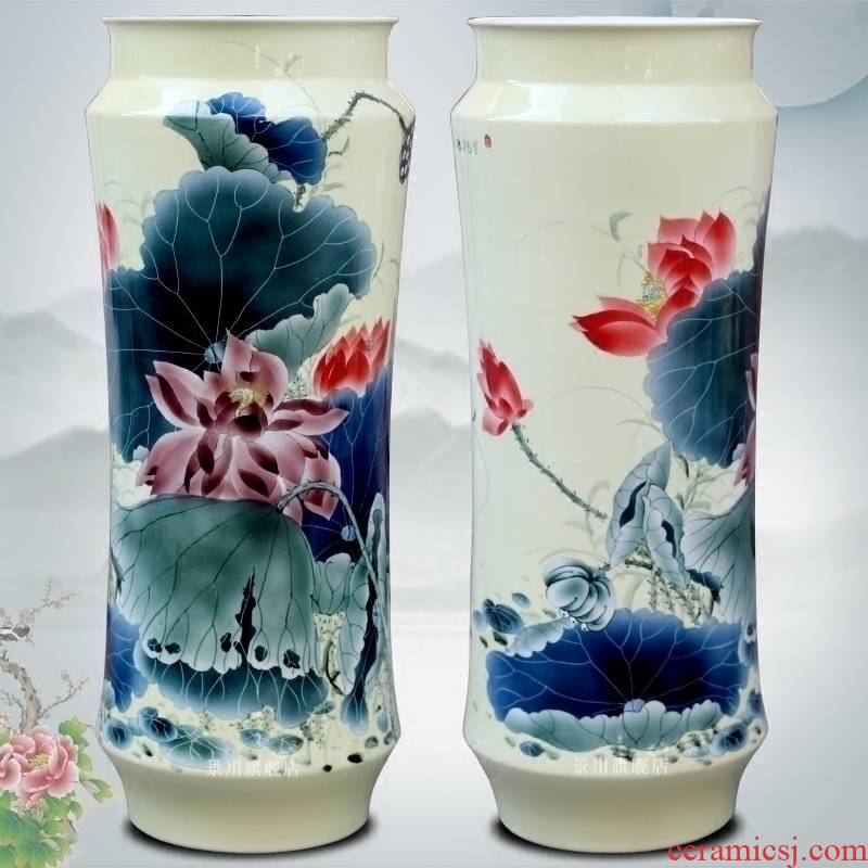 Jingdezhen ceramic vase hand - made scent figure I and contracted vase figure study of home sitting room hotel furnishing articles