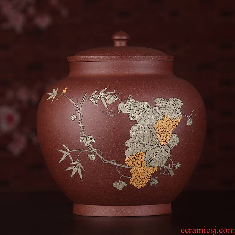 Shadow at yixing purple sand tea pot full manual coloured drawing or pattern seal pot pu 'er wake receives JSBT