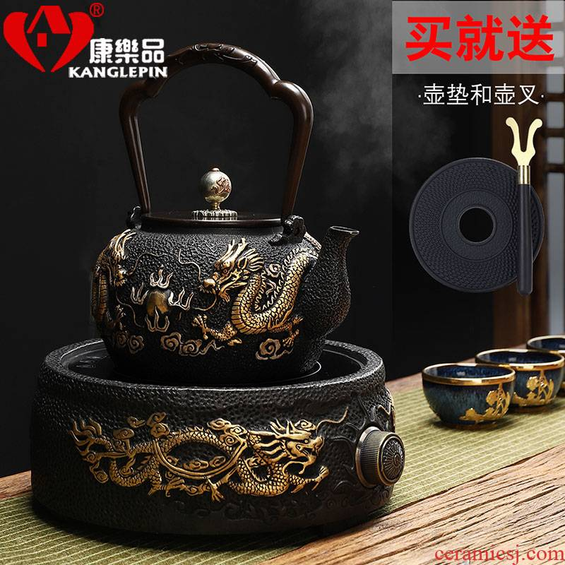 Recreational taste pure manual Japanese girder pig iron pot of boiled tea ware gold teapot tea kettle TaoLu household electricity