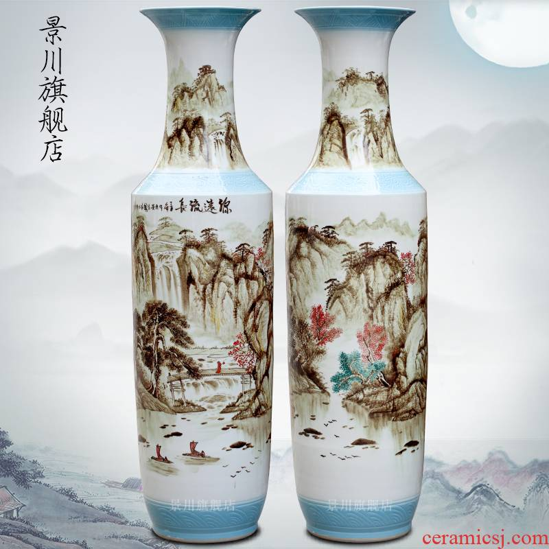 Hand - made has a long history of large vases, jingdezhen ceramics home sitting room place hotel decoration