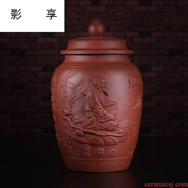 Shadow at yixing purple sand tea pot large manual pu - erh tea pot and receives the general relief JSBT