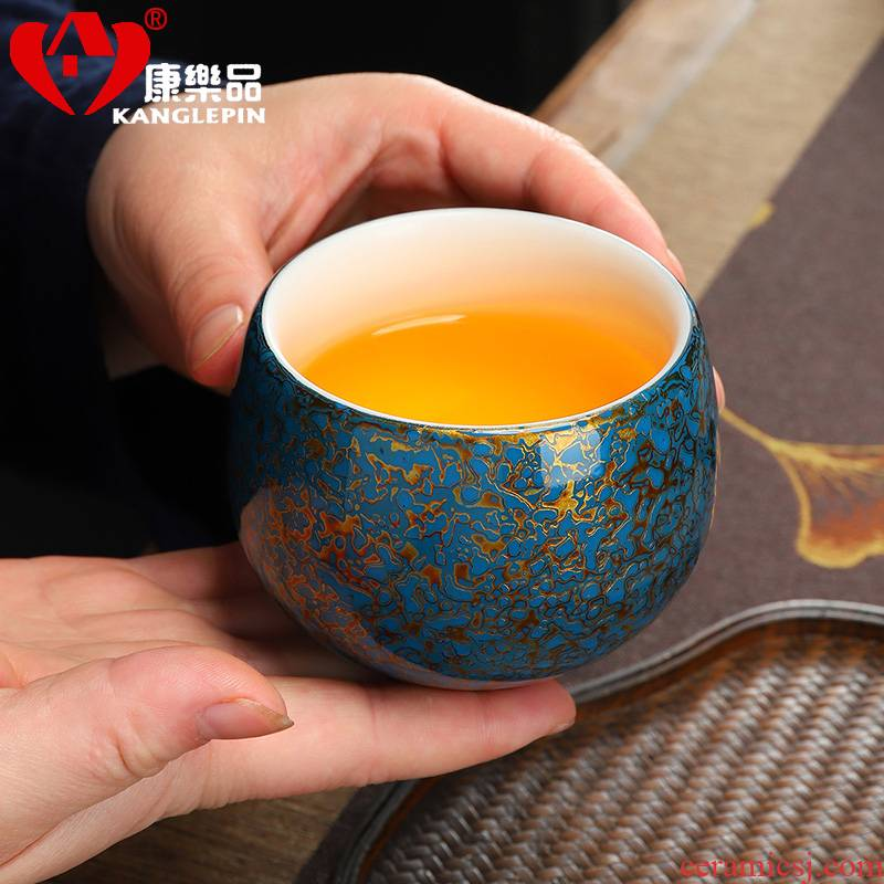 Recreational taste authentic lacquer turtle crack dehua white porcelain by pure manual Chinese lacquer tea cups 185 ml