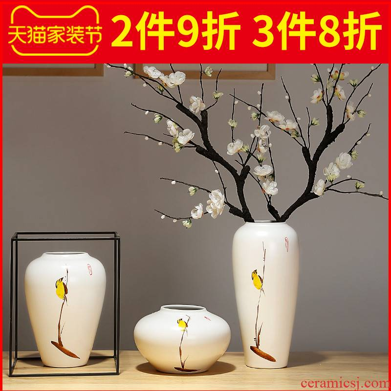 Ceramic vase household furnishing articles contracted the new Chinese style originality desktop sitting room porch flower arranging flower decorations