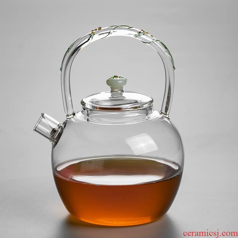 RenXin household electrical TaoLu high temperature resistant filter glass flower pot to boil the teapot tea set kettle pot of girder