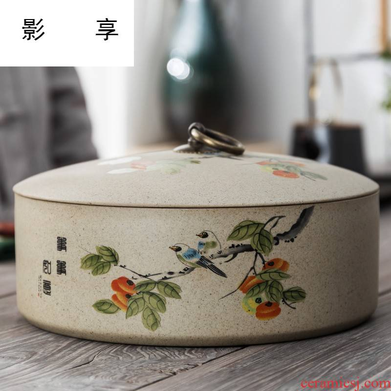 Shadow enjoy coarse some ceramic porcelain with cover large bowl writing brush washer pu 'er tea pot of tea cake warehouse kung fu tea tea accessories
