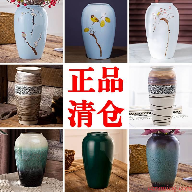 Jingdezhen hand - made floret bottle furnishing articles retro ceramic flower arranging dried flowers sitting room adornment water raise POTS hydroponic flowers