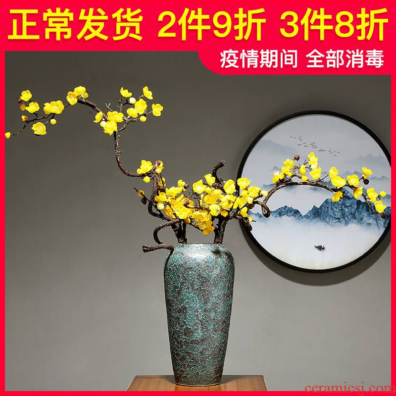 Ceramic vase furnishing articles I and contracted sitting room porch flower arranging dried flower porcelain European household study mesa adornment