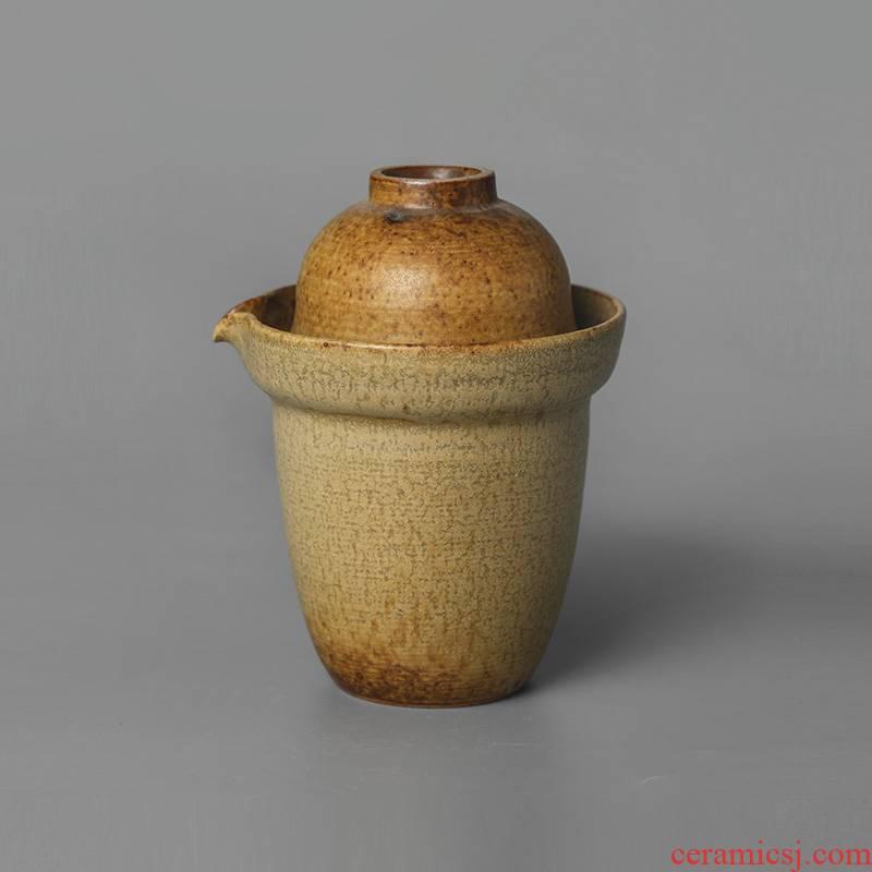 Kunfu tea hand grasp pot cup hot jingdezhen ceramic mud crack prevention cup travel suit pure manual portable tea sets