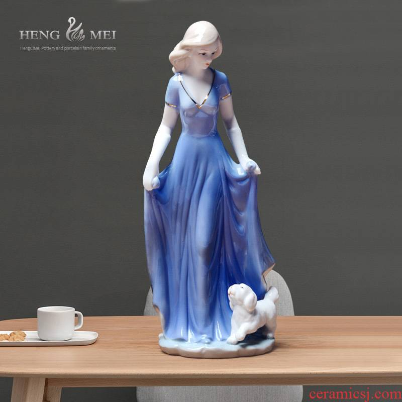Western European female TV ark adornment ark, home decoration decoration in jingdezhen ceramic arts and crafts its furnishing articles