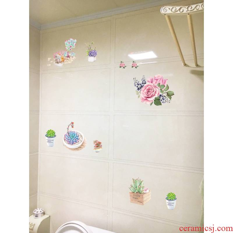 To embellish ceramic tile becomes modesty To fill holes in toilet decorate creative toilet bathroom waterproof adhesive imitation porcelain in the kitchen