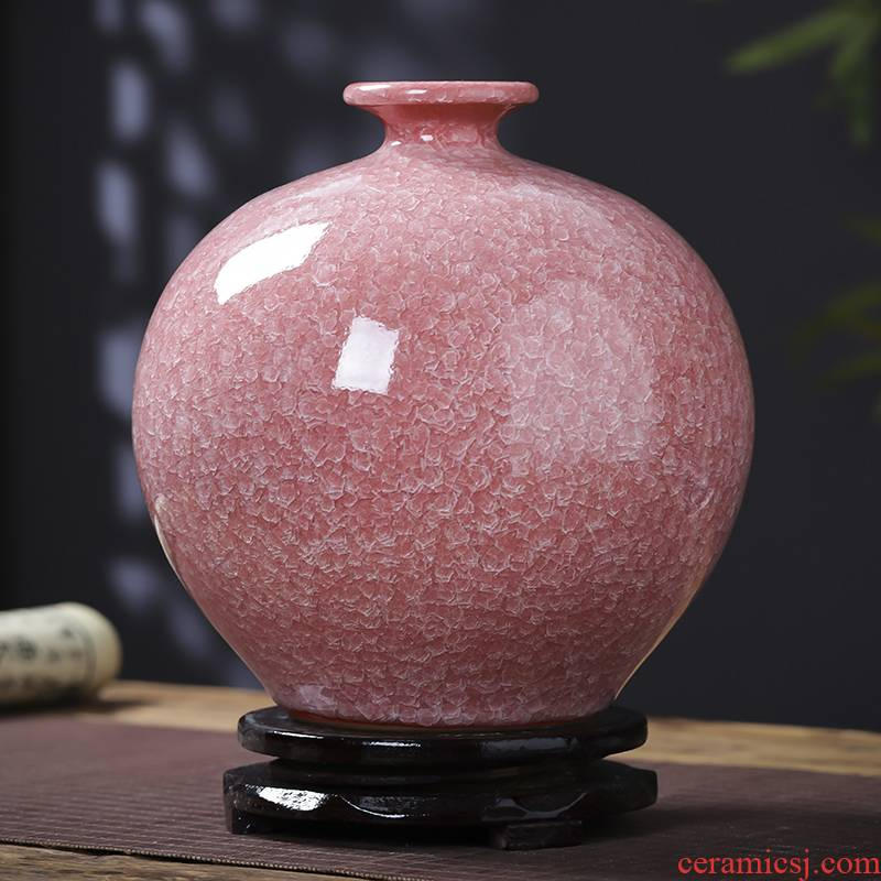 Jingdezhen porcelain vases, ceramic flower arranging archaize furnishing articles new living room TV cabinet decoration of Chinese style household porcelain