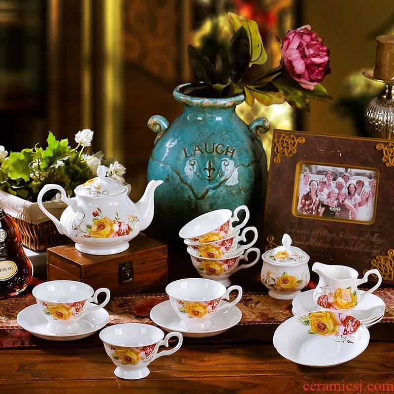 Ceramic European tea set English afternoon tea tea cups of coffee cups of water glass key-2 luxury home