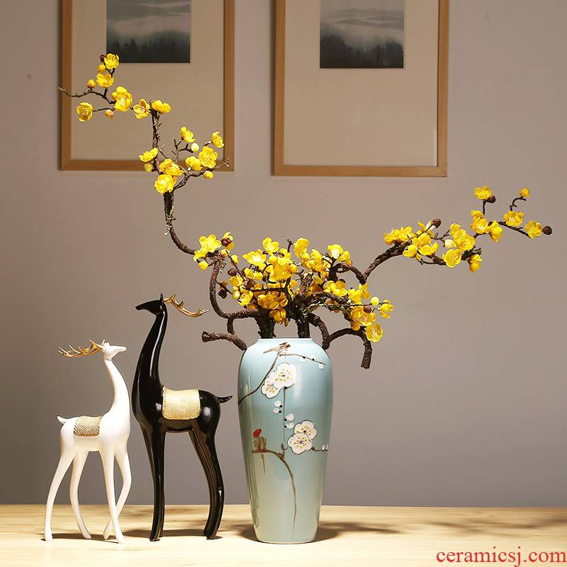 Jingdezhen ceramics vase vase Chinese style is I sitting room manual creative mesa place flower vase suits for