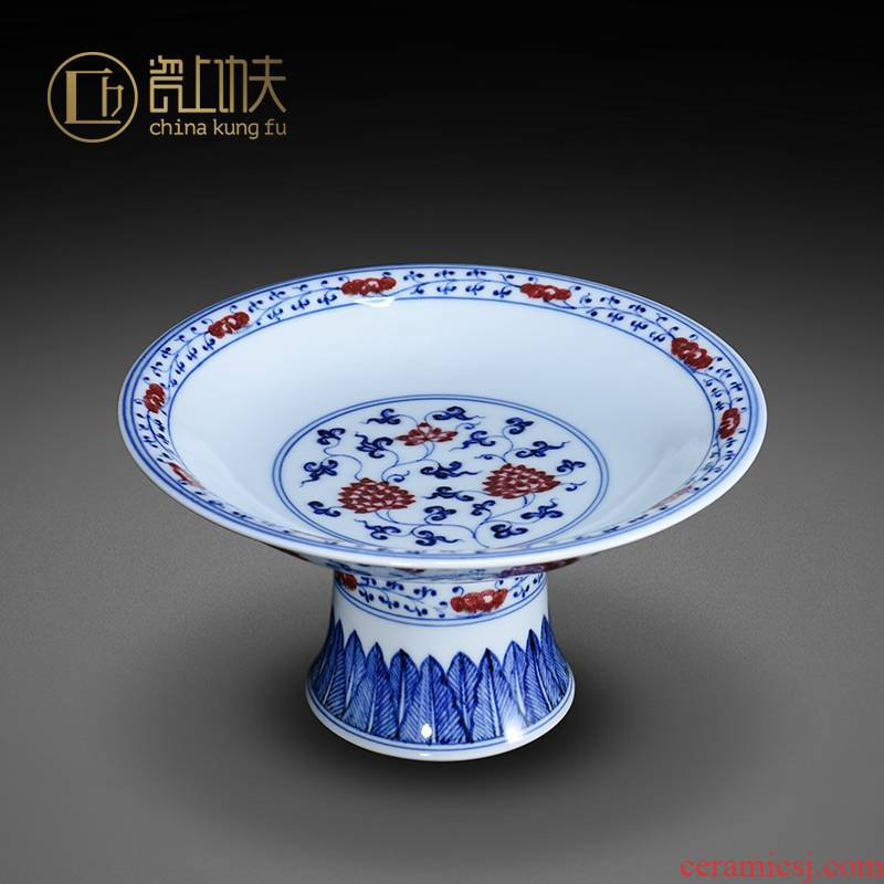 Jingdezhen blue and white youligong hand - made ceramic compote compote snack plate for the fruit bowl before Buddha sitting room home