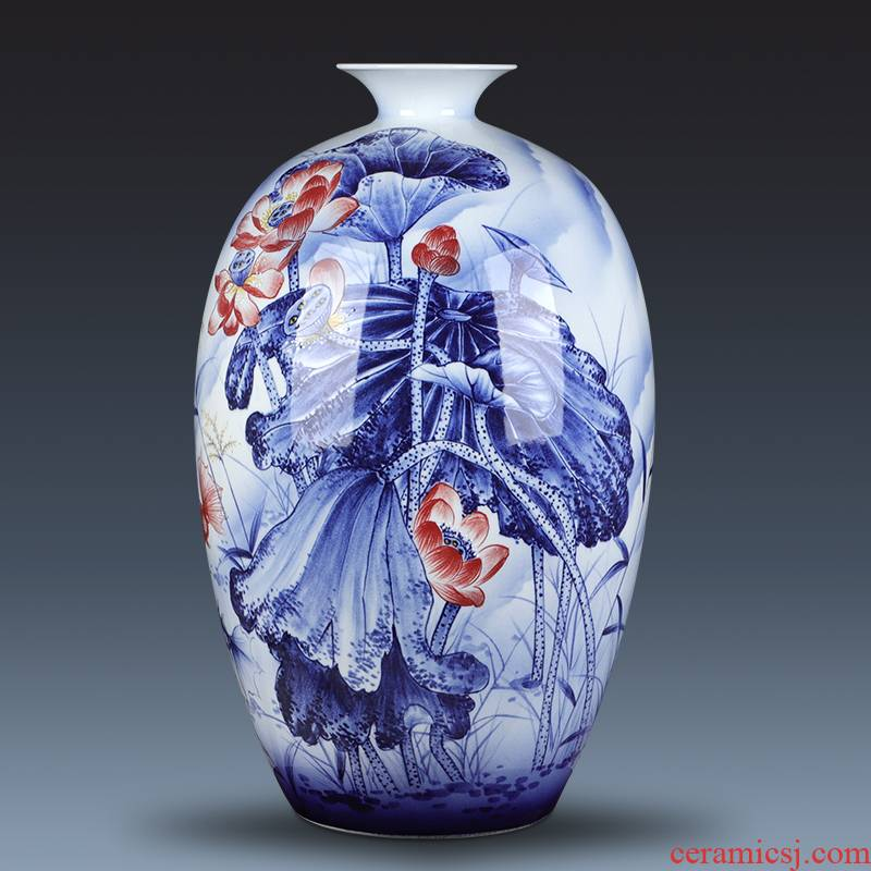 The Master of jingdezhen chinaware big vase hand - made years than furnishing articles gifts club villa hotel