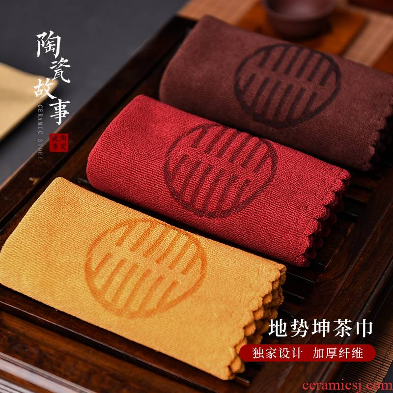 Ceramic tea towel cloth zen story bibulous thickening tablecloth a pot of tea towel cotton and linen tea towel tea table cloth