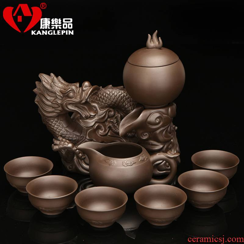 Recreational product creative lazy violet arenaceous kung fu tea set new Chinese ceramic cup teapot mesh simple base