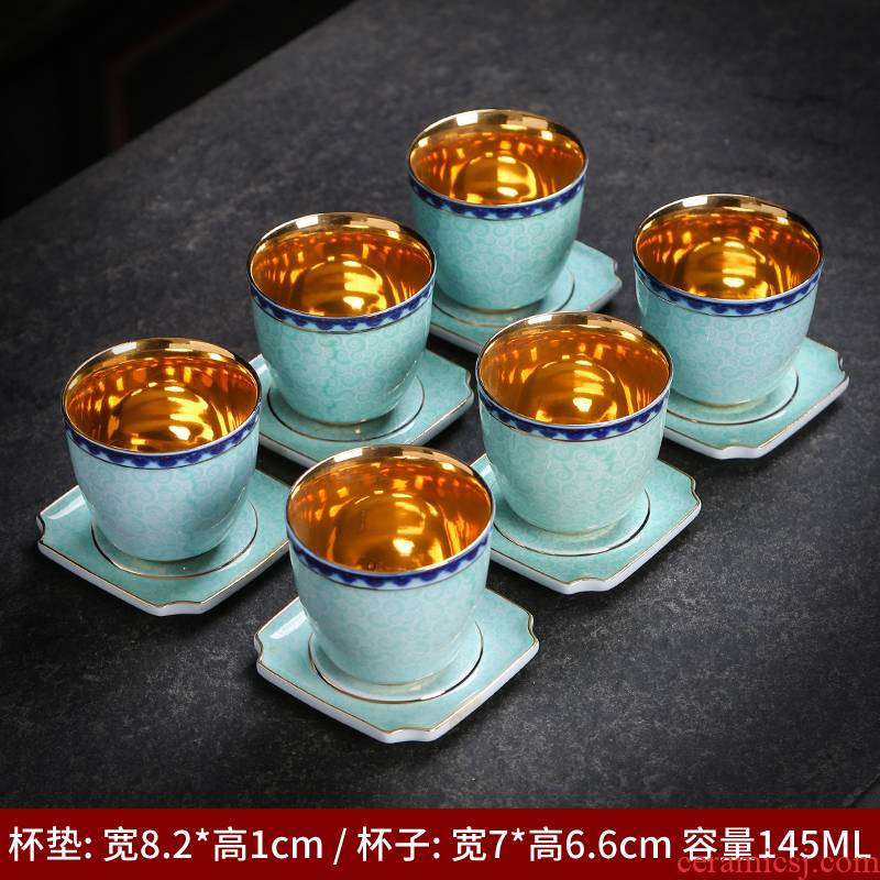 Jingdezhen ceramic colored enamel cup sample tea cup household pure manual variable kung fu master cup cup single cup size