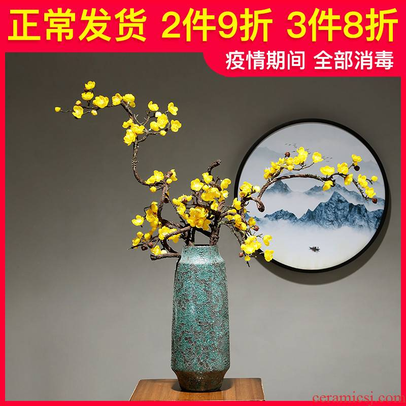 European ceramic vase contracted household adornment simulation dried flowers flower arrangement sitting room light and decoration pieces of table study ornaments