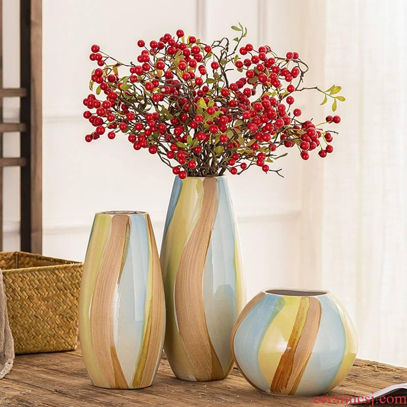 Jingdezhen ceramic vase furnishing articles sitting room desktop dry flower arranging flowers water raise flower POTS creative decorations restoring ancient ways