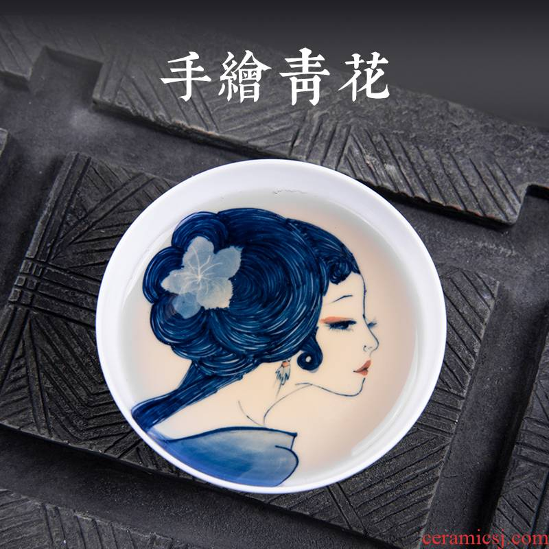 Twenty - four apparatus under the glaze hand - made beauty of blue and white porcelain of jingdezhen ceramic cups master sample tea cup kung fu single CPU
