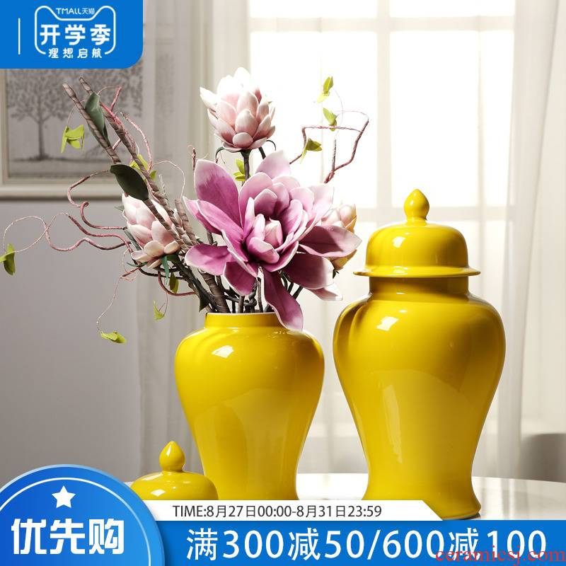New Chinese style porch jingdezhen ceramic general tank sitting room the clubhouse TV ark place decorative vase flower arrangement