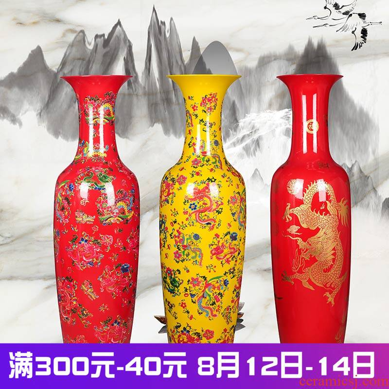 Jingdezhen ceramics high ground large vase titian in extremely good fortune sitting room place feng shui modern Chinese style