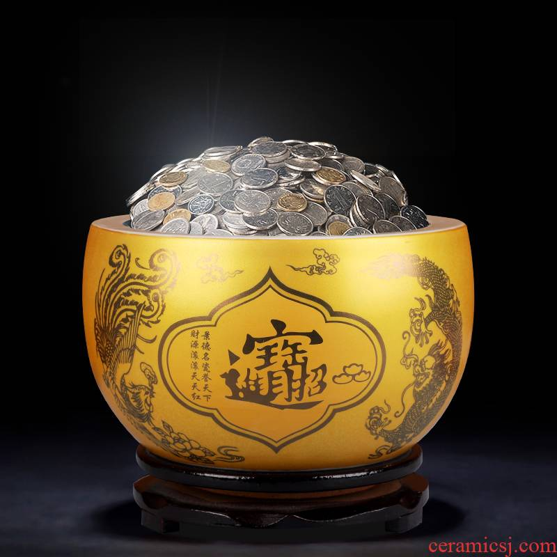 Jingdezhen ceramics basin of the sitting room porch ark save gold furnishing articles furnishing articles opening gifts COINS