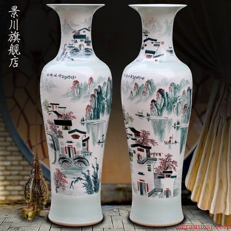 Jingdezhen ceramics hand - made water landscape of large vases, sitting room of modern Chinese style household act the role ofing is tasted furnishing articles