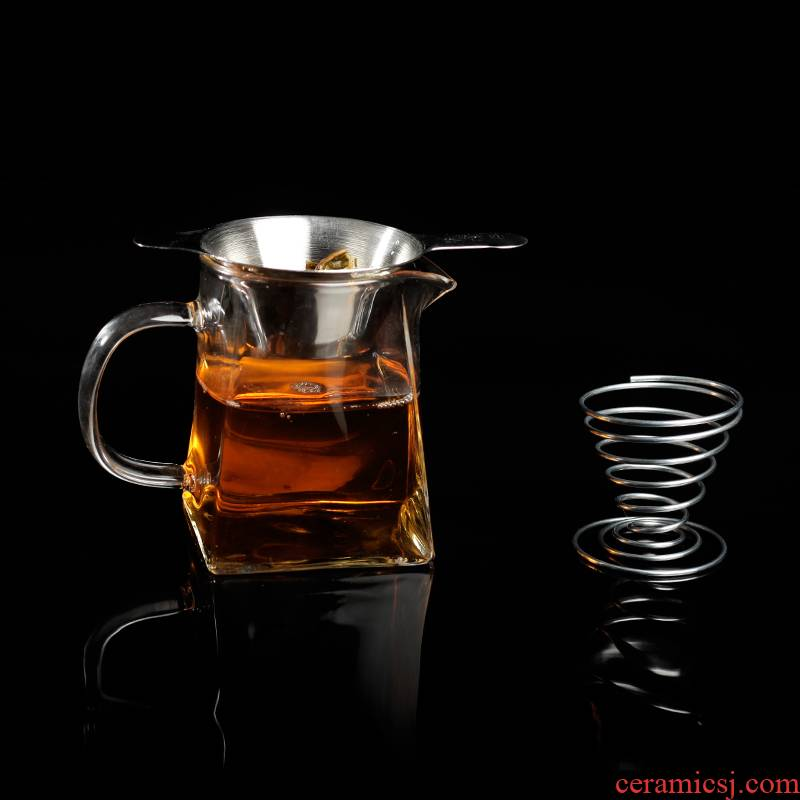 Together in hot scene) male cup mesh filter kung fu tea tea filter good stainless steel frame accessories porcelain