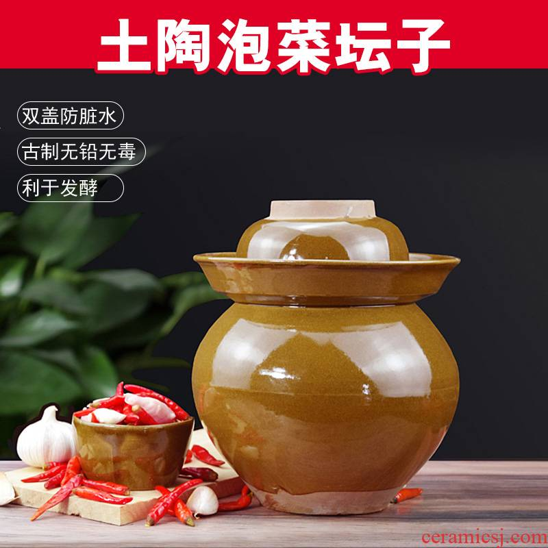 Sichuan earthenware to thicken the old pickle jar with cover sauerkraut pickle jar sealed as cans ceramic pickle jar