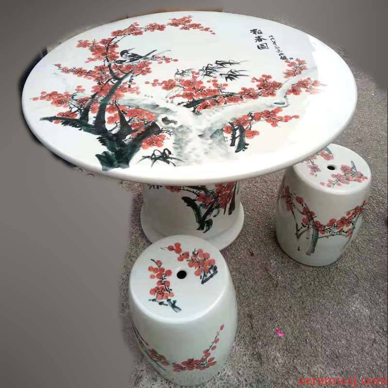 Jingdezhen ceramic hand - made lotus table porcelain table high - grade balcony garden anticorrosive prevent bask in frost to suit