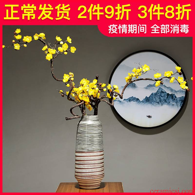 Sitting room is I and contracted household ceramics jingdezhen vase flower arranging, creative move adornment bedroom TV ark