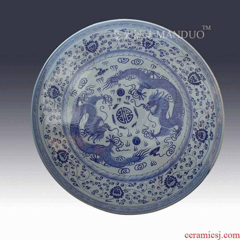 Jingdezhen longfeng grain size ceramic table set ancient classical authentic ceramic is suing is suing the table